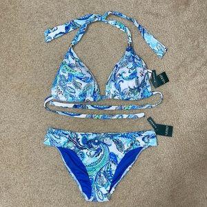 NWT Ralph Lauren Paisley Swimsuit Set 👙☀️